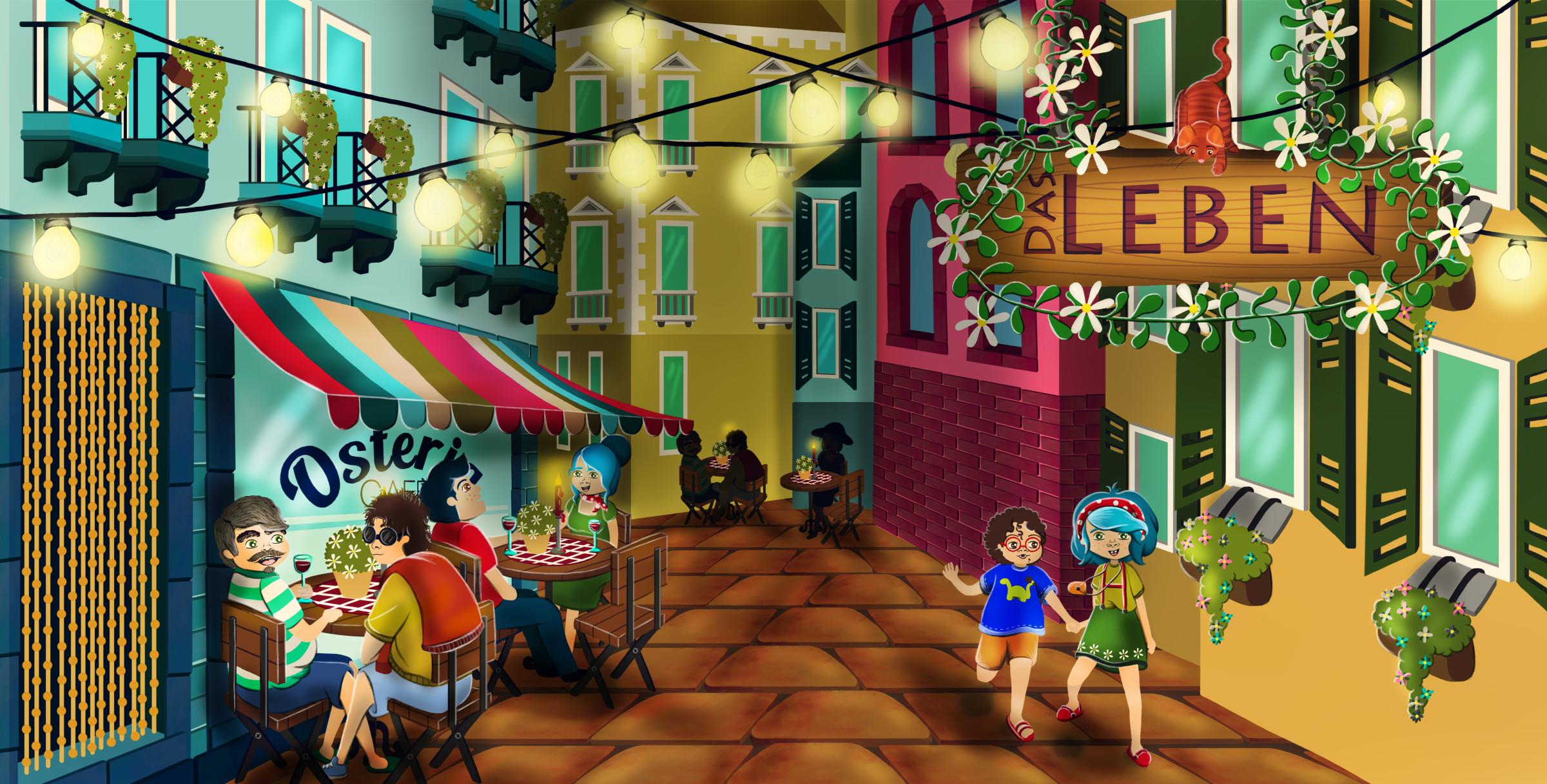 Ein Abend in Italien für Kim und Matteo von World for kids!