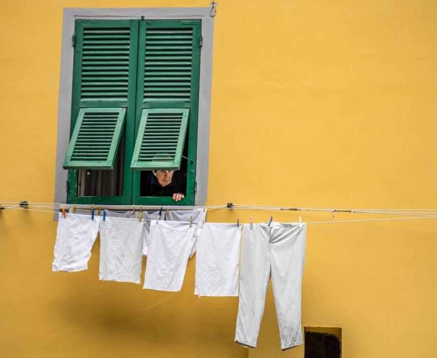 Typisches Bild auf einem Ausflug in ein italienisches Dorf
