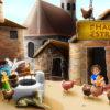 Alte Häuser und Straßen in Italien for kids