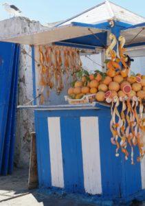 Orangensaft auf dem Markt in Essaouira